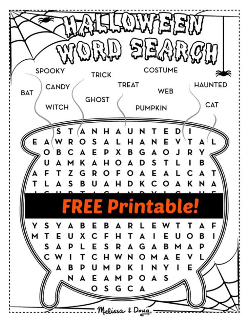 2 Printable Halloween Activity Pages For Kids   Melissa