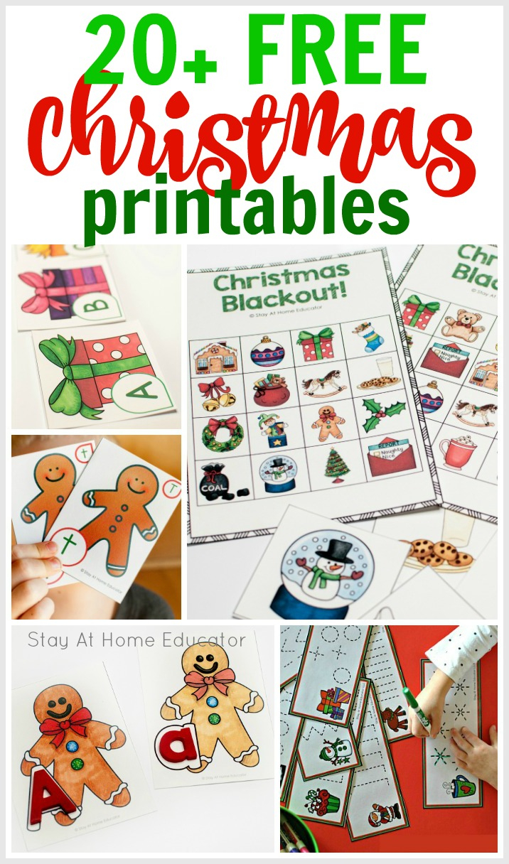 20 Free Christmas Printables Perfect For The Classroom