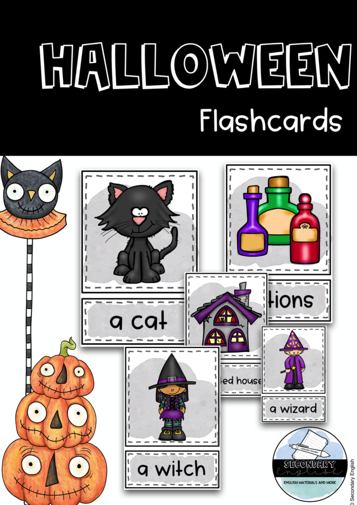20 Halloween Themed Flashcards