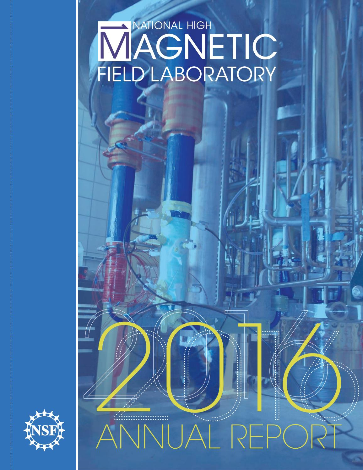 2016 Annual Report For The National High Magnetic Field