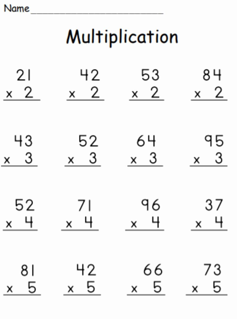 21 Digit Multiplication Worksheets Top Multiplication 2