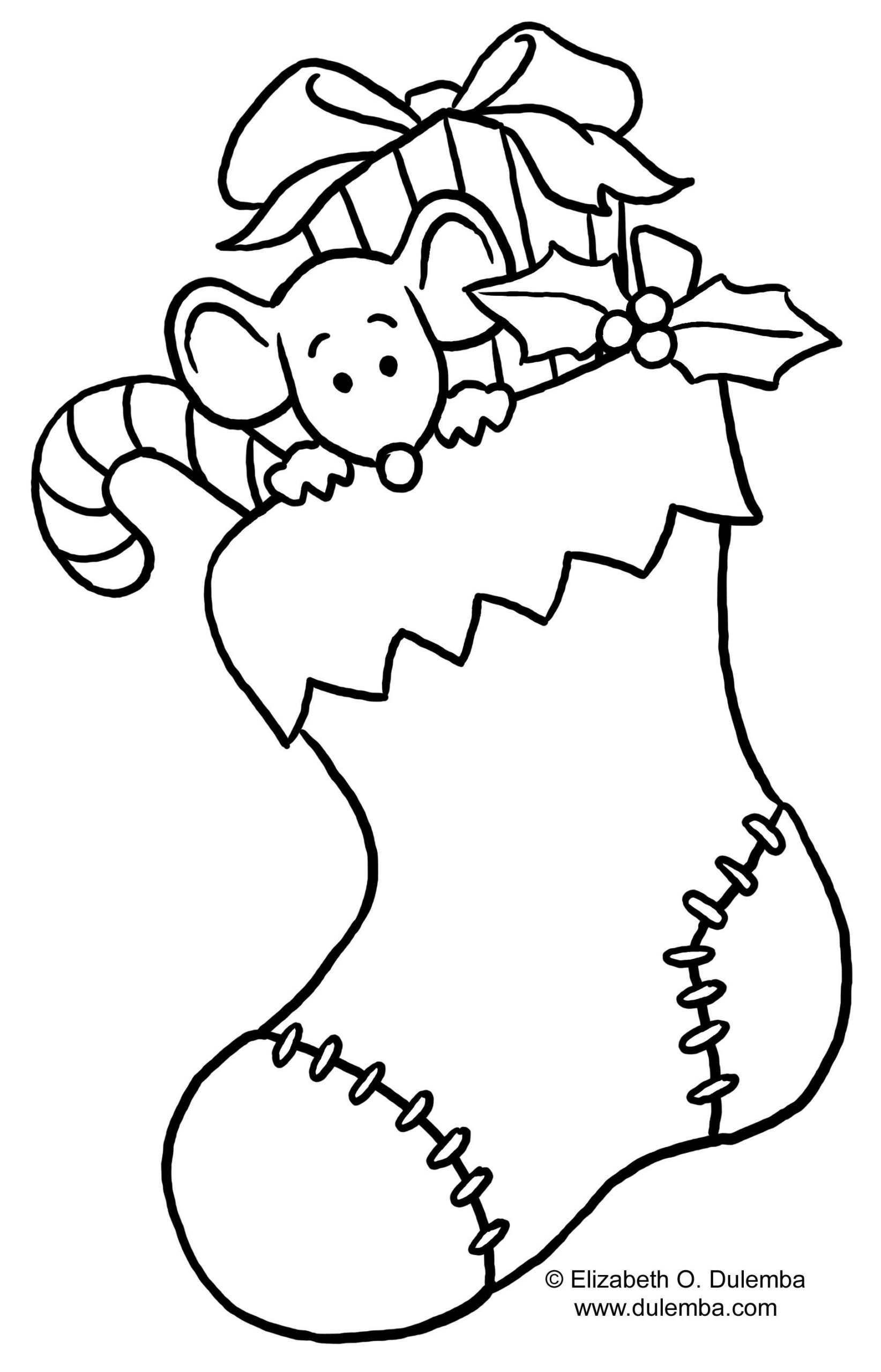 24+ Marvelous Image Of Stocking Coloring Page - Davemelillo