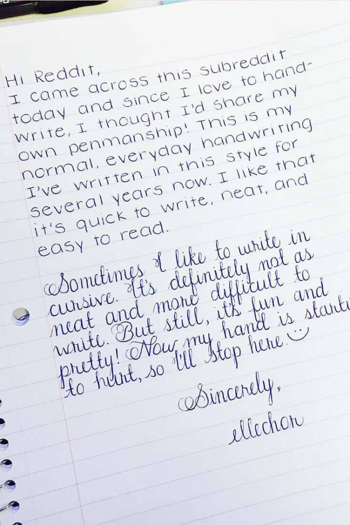 25 Amazing Examples Of Perfect Handwriting | Perfect