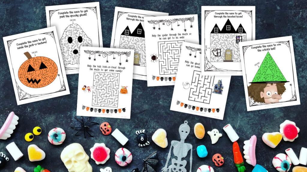25 Not So Scary Halloween Maze Printable Worksheets For Kids