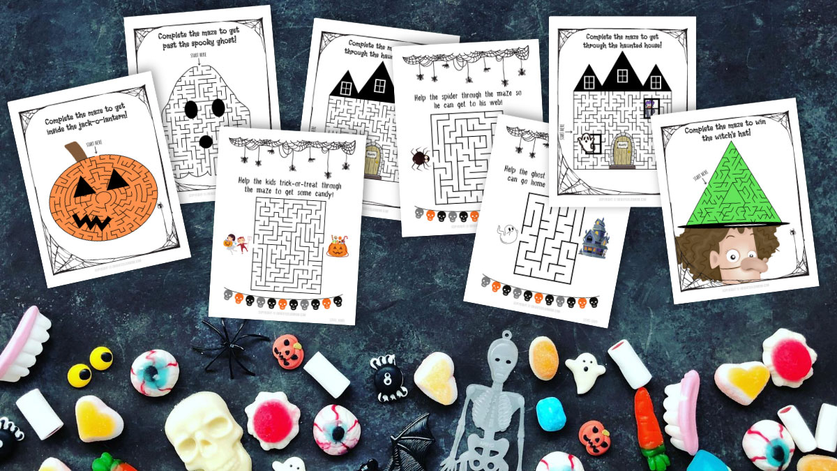 25 Not-So-Scary Halloween Maze Printable Worksheets For Kids