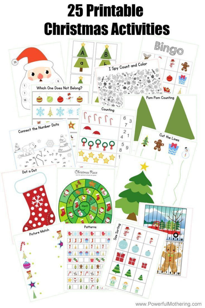 25 Printable Christmas Activities For Preschoolers And Older