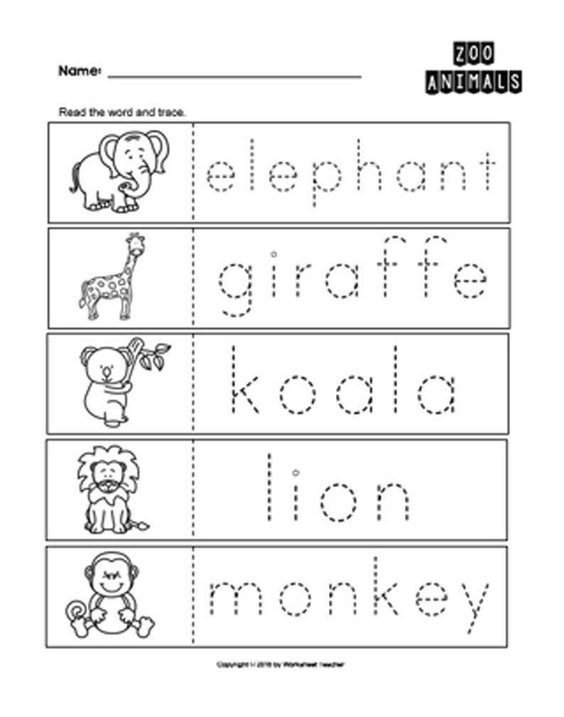 25 Zoo Animals Preschool Curriculum Activities Preschool B&w