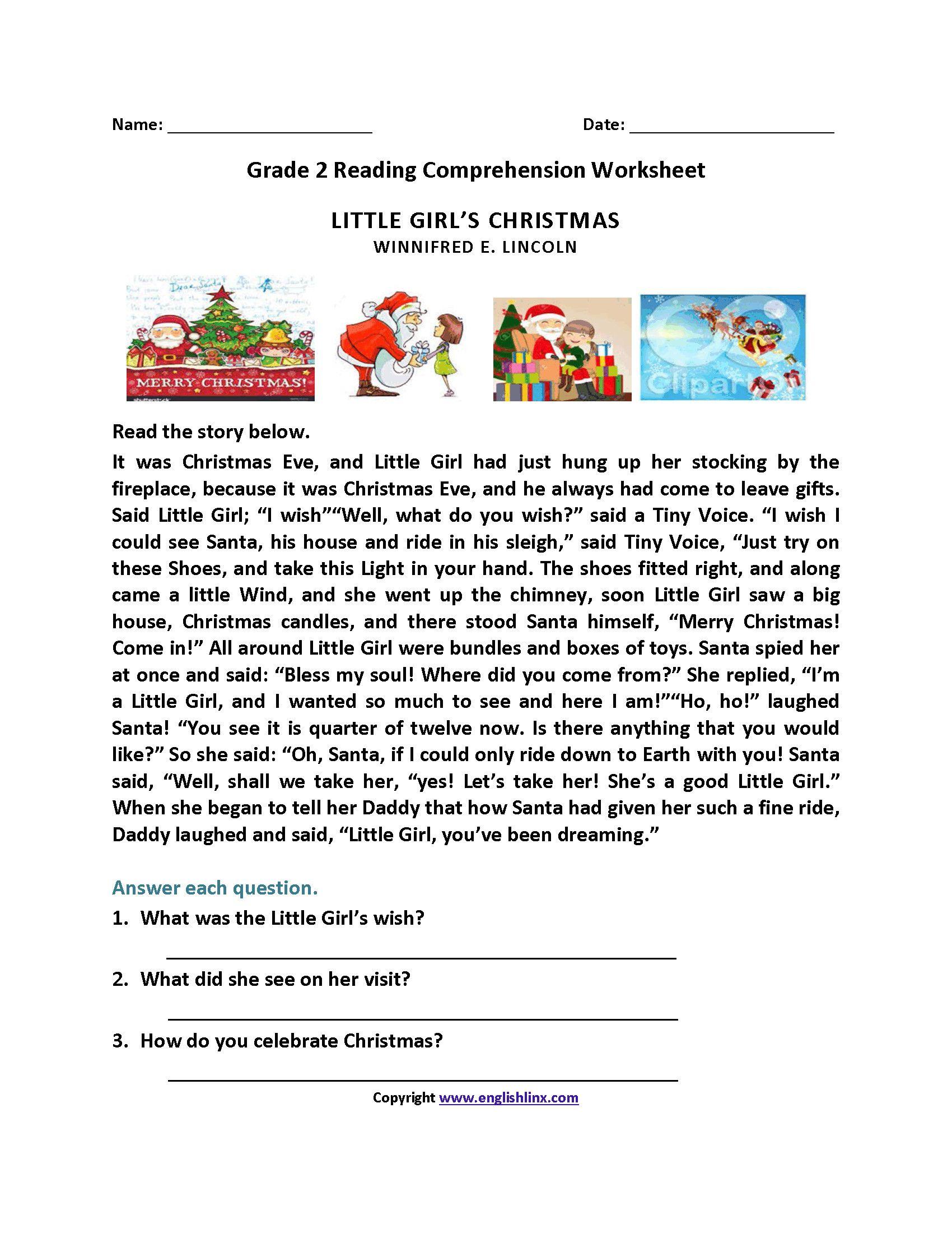 2Nd Grade Reading Comprehension Worksheets In 2020 | Reading