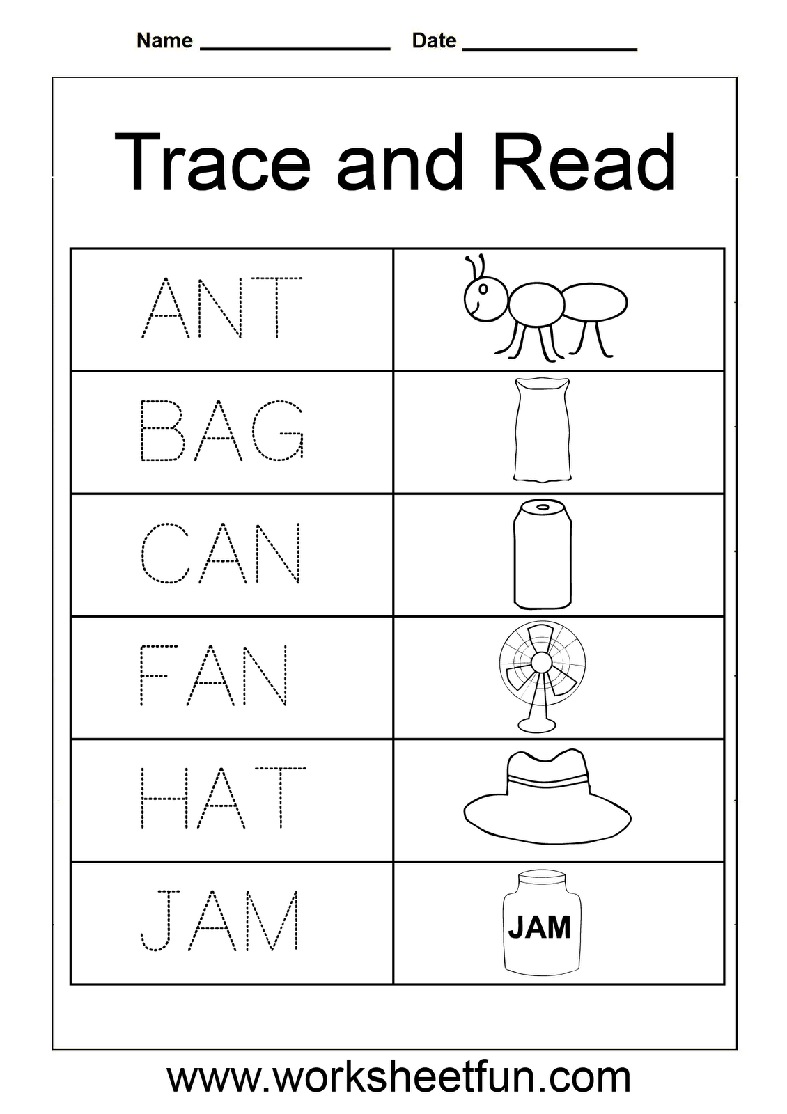Three Letter Words Tracing Worksheets ...