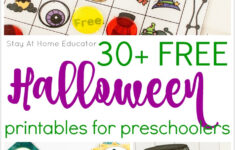 Halloween Preschool Printable Worksheets