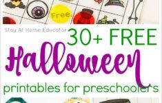Free Printable Preschool Halloween Worksheets