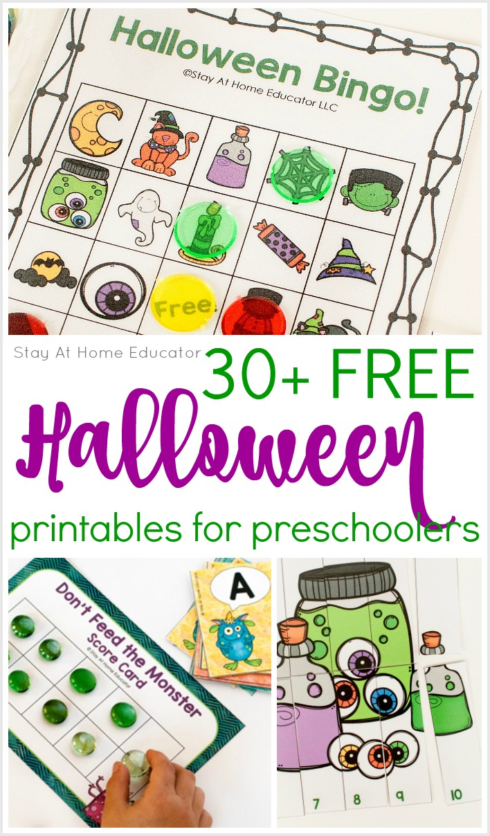 30 Free Halloween Printables For Preschool - Stay At Home