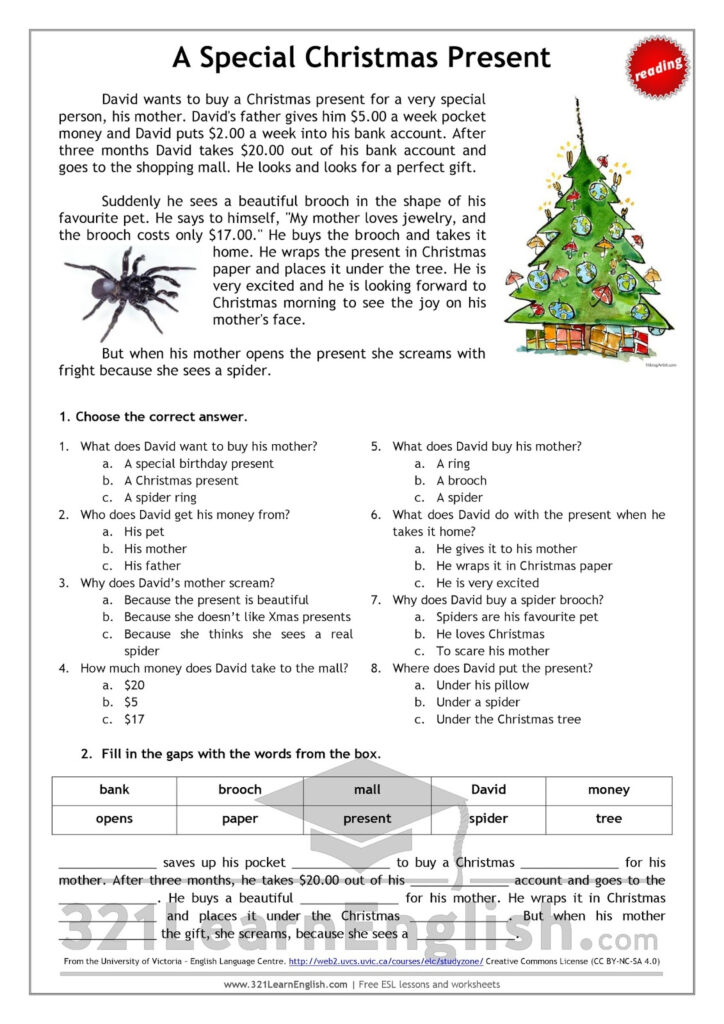 321 Learn English: Reading: A Special Christmas Present