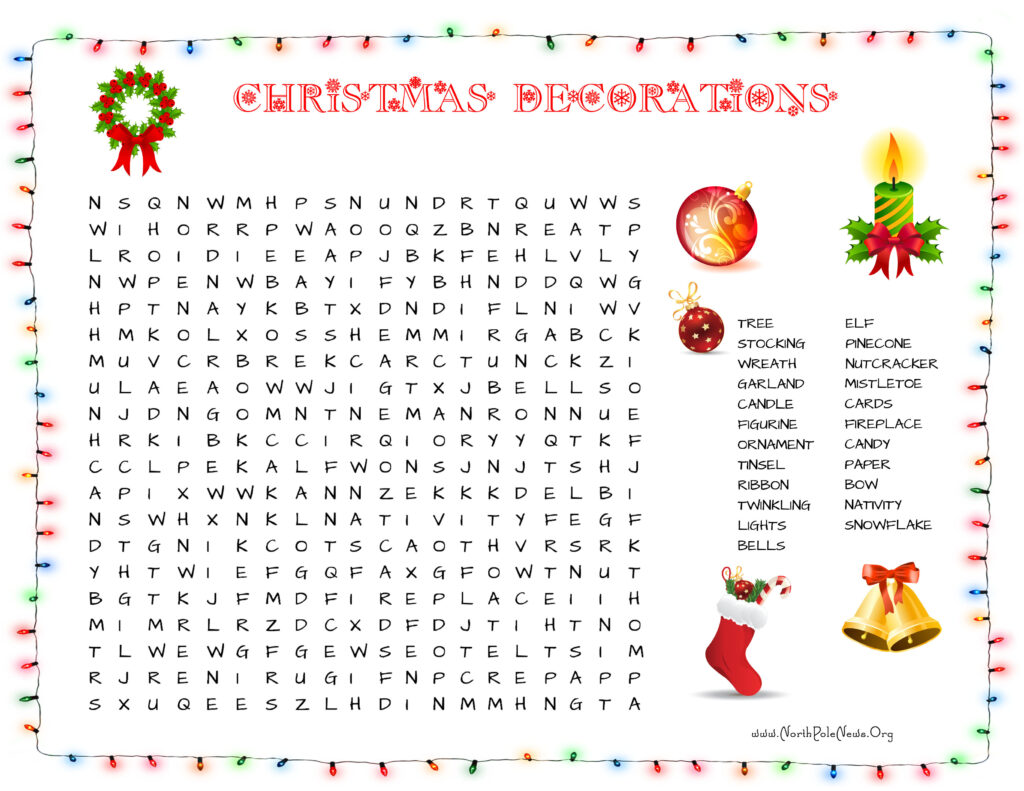 37 Free Christmas Word Search Puzzles For Kids