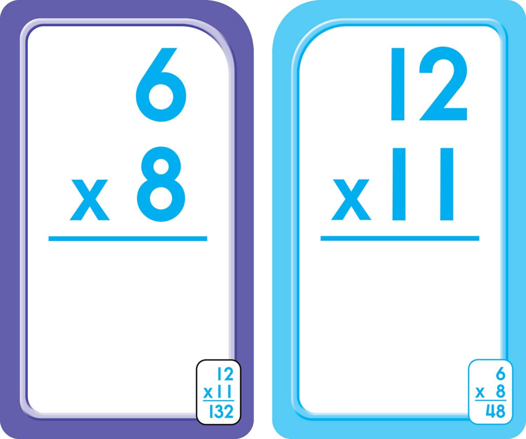 3Rd, 4Th And 5Th Grade   Multiplication Flash Cards 0 12