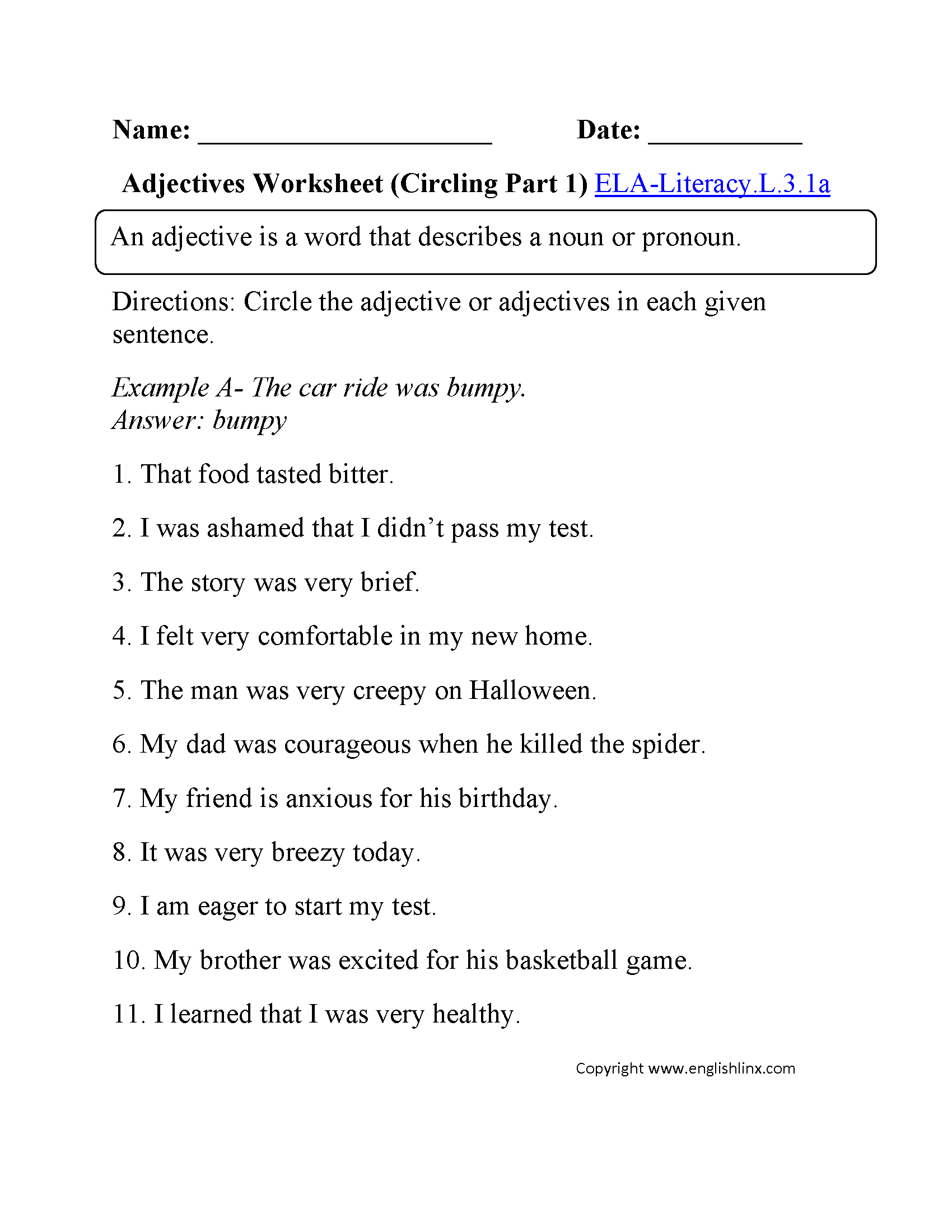 3Rd Grade Common Core | Language Worksheets