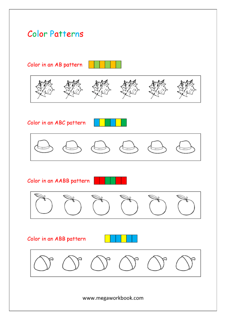 41 Marvelous Ab Pattern Worksheets For Preschool Picture