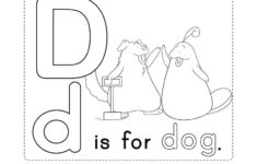 Letter D Alphabet Worksheets