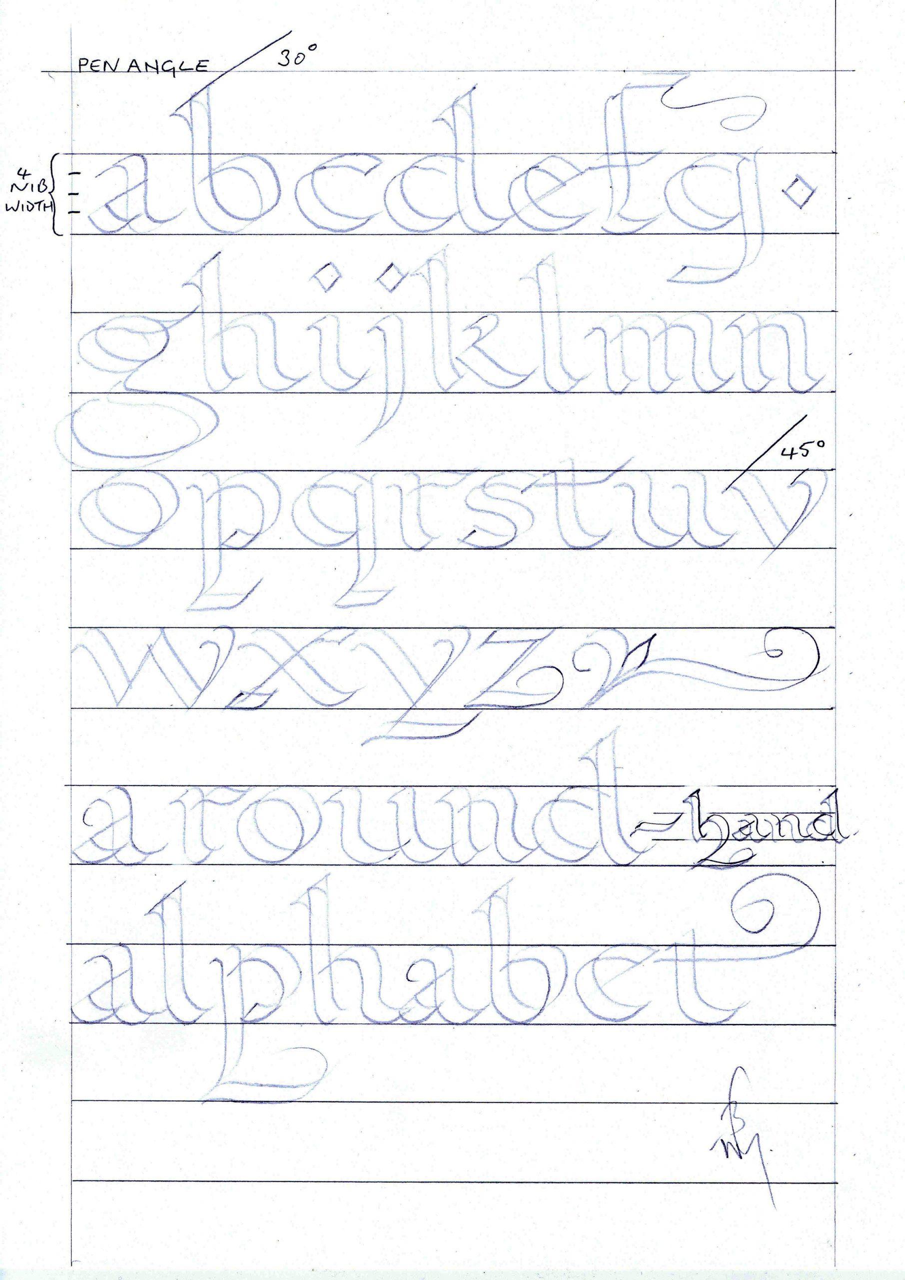 43 Excelent Calligraphy Alphabet For Beginners Worksheets