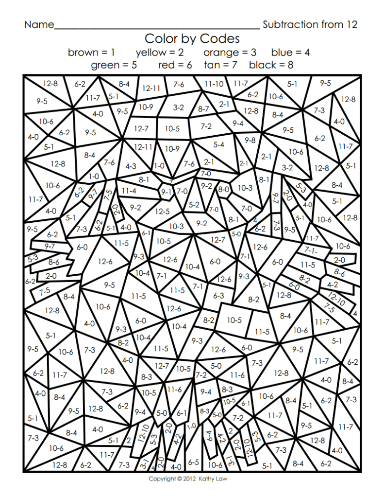 49 Extraordinary Maths Calculated Colouring Worksheets