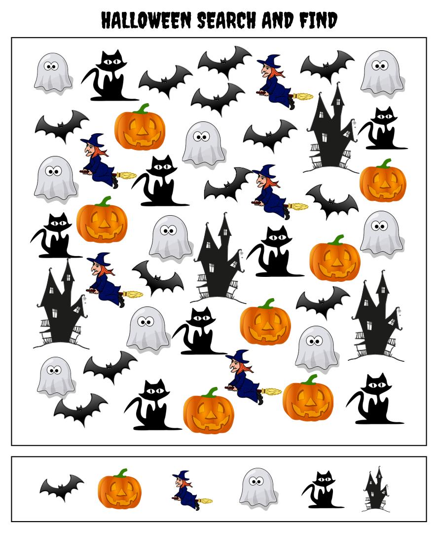 5 Best Halloween Seek And Find Printables - Printablee