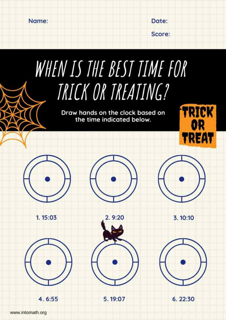 5 Halloween Math Activities And Worksheets   Intomath