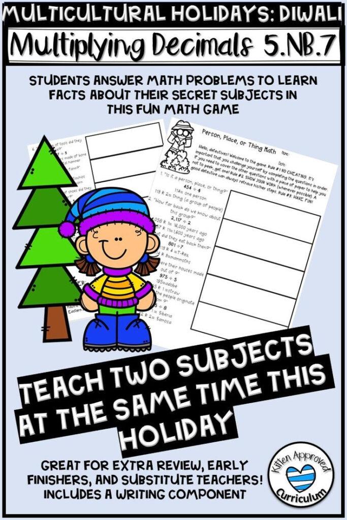 5.nb.7 Christmas Math Worksheet For 5Th Grade Diwali