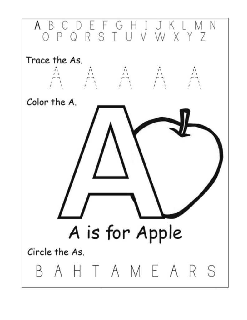 50 Marvelous Alphabet Worksheets Kindergarten Photo Ideas For Letter A Worksheets For Toddlers