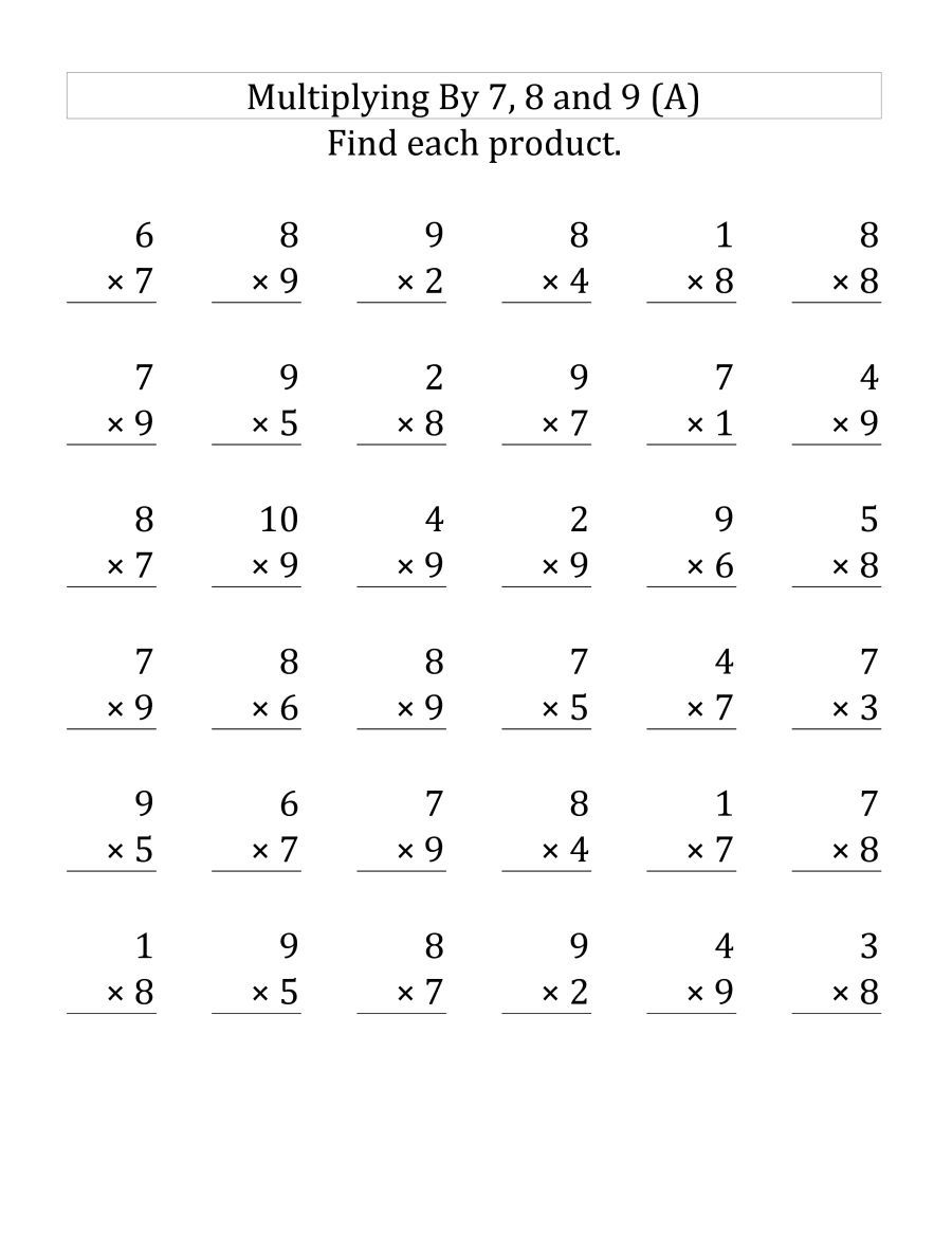 55 Fantastic Third Grade Multiplication Worksheets Picture