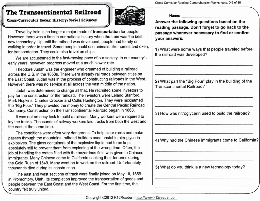 5Th Grade Reading Comprehension Worksheets Halloween