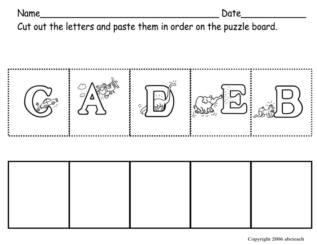 6 Best Free Abc Worksheets Preschool Printables   Printablee Intended For Alphabet Mix Up Worksheets