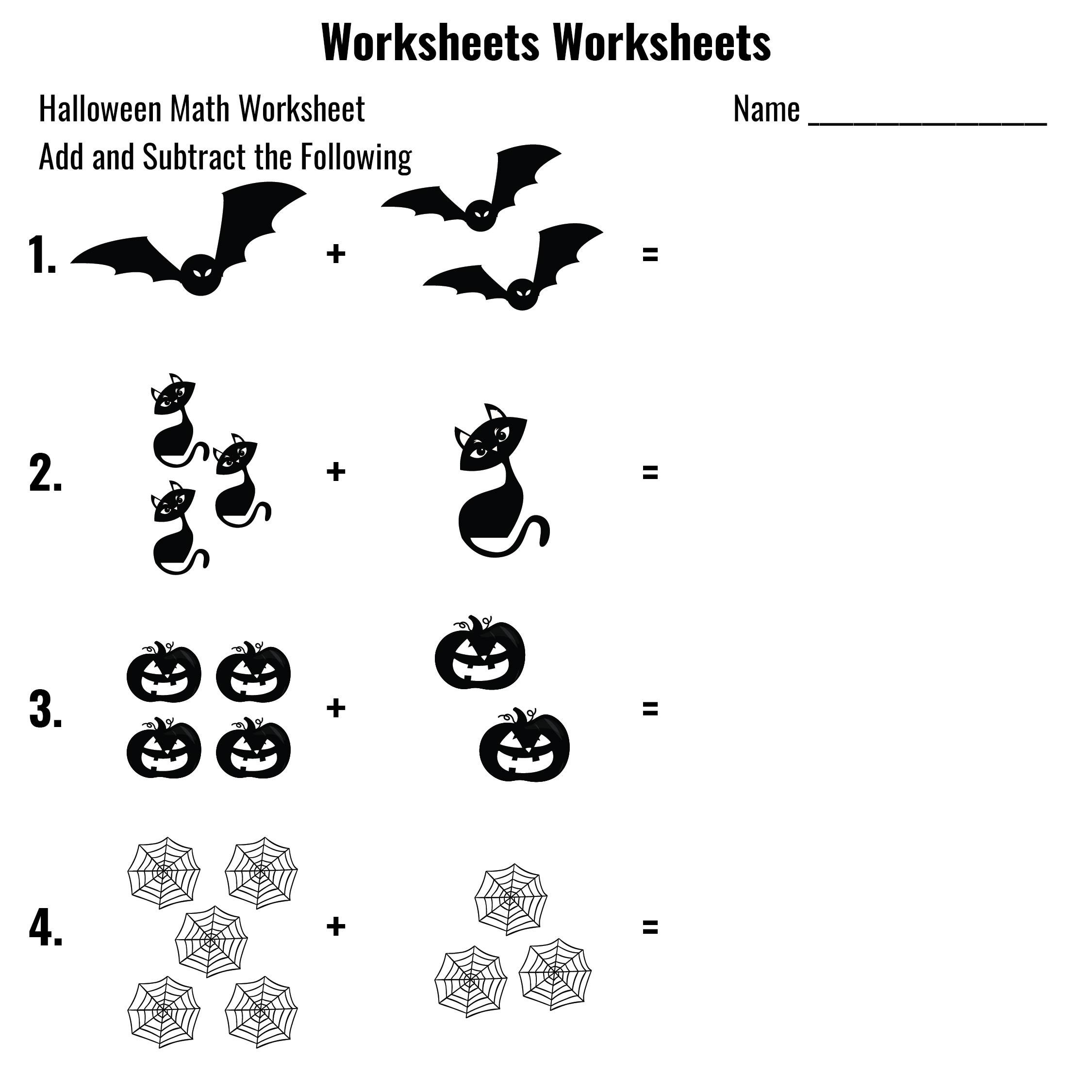 6 Best Halloween Math Worksheets Printable - Printablee