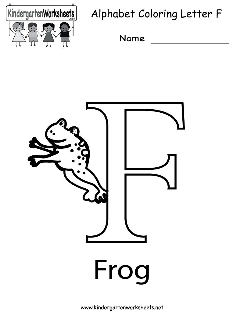 8 Best Free Printable Alphabet Worksheets Letter F regarding Letter F Worksheets Printable