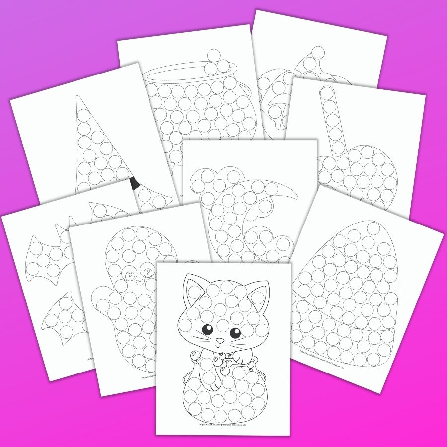 9 Free Halloween Dot Marker Printables: No-Prep Fun For Tots
