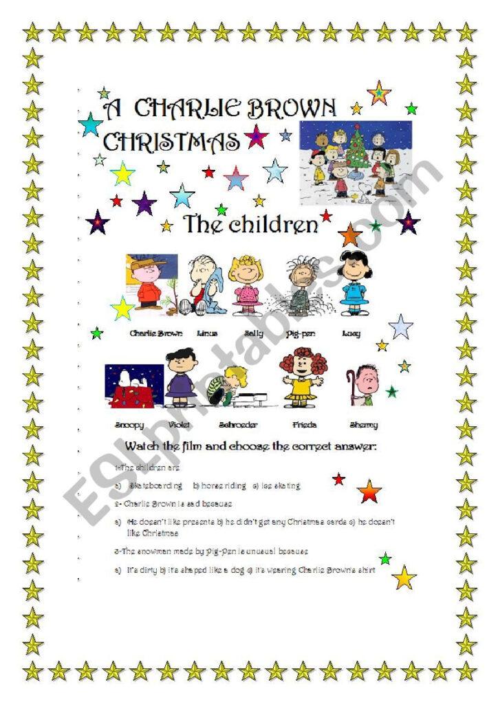 A Charlie Brown Christmas  Film Part 1/3   Esl Worksheet
