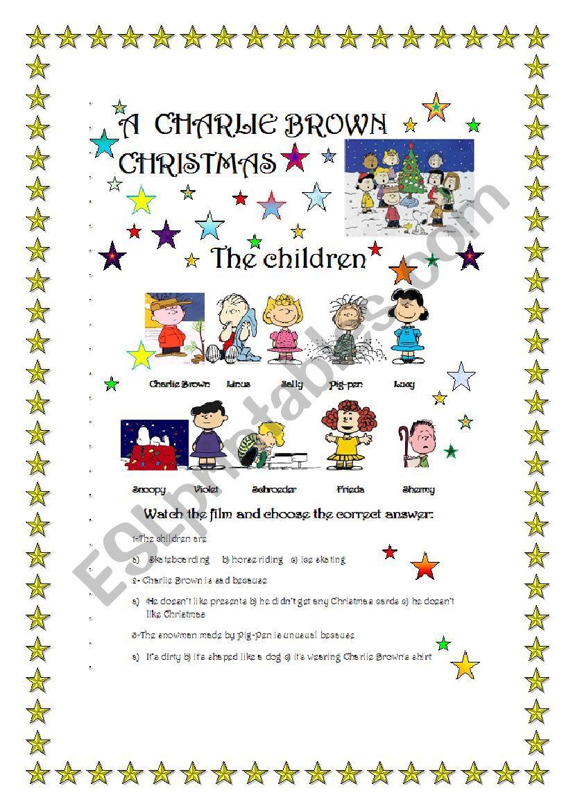 A Charlie Brown Christmas- Film Part 1/3 - Esl Worksheet