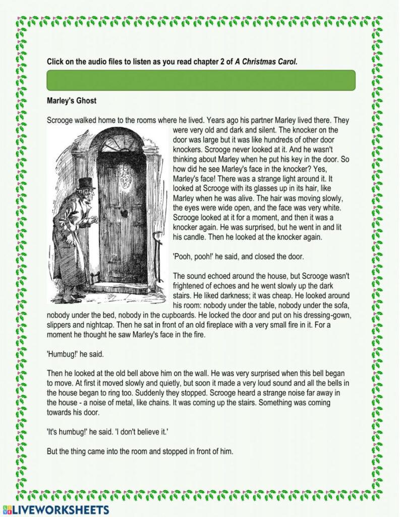 A Christmas Carol   Chapter 2 Worksheet
