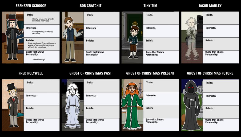 A Christmas Carol Characters Storyboardbeckyharvey