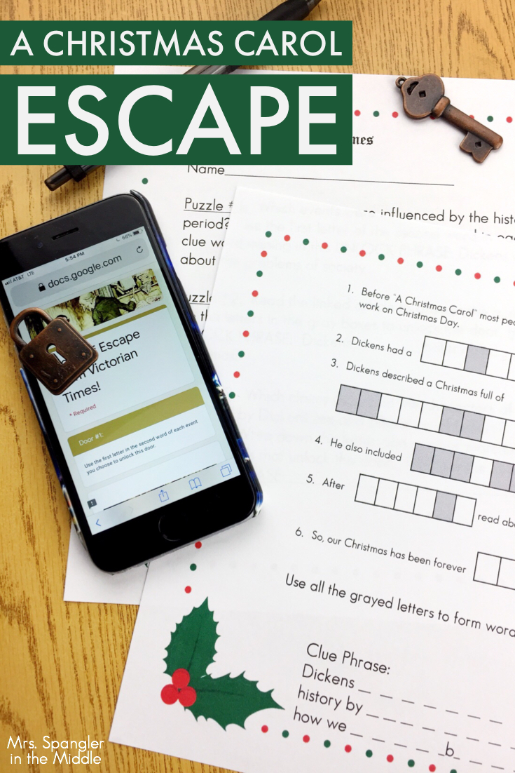 A Christmas Carol Escape! - Mrs. Spangler In The Middle