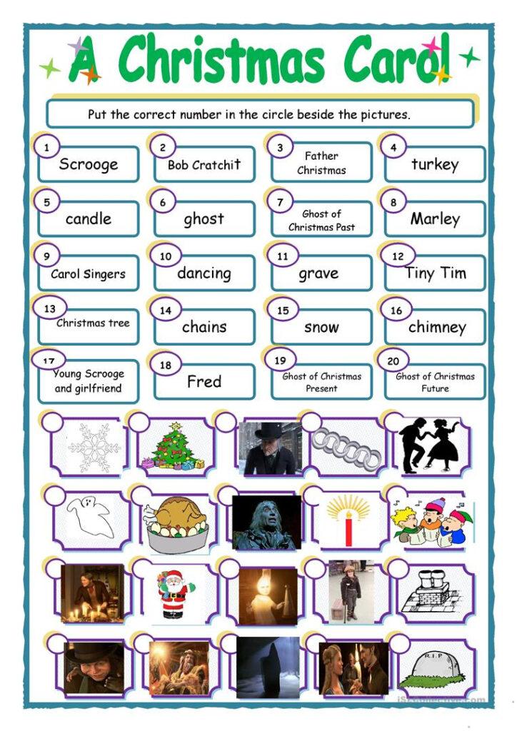 A Christmas Carol' Match Up   English Esl Worksheets For