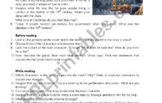 A Christmas Carol Questions Worksheet