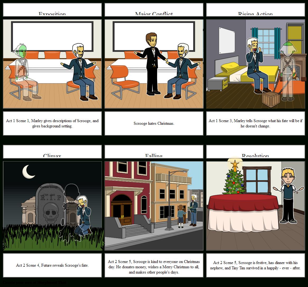 A Christmas Carol: Scrooge And Marley Storyboard