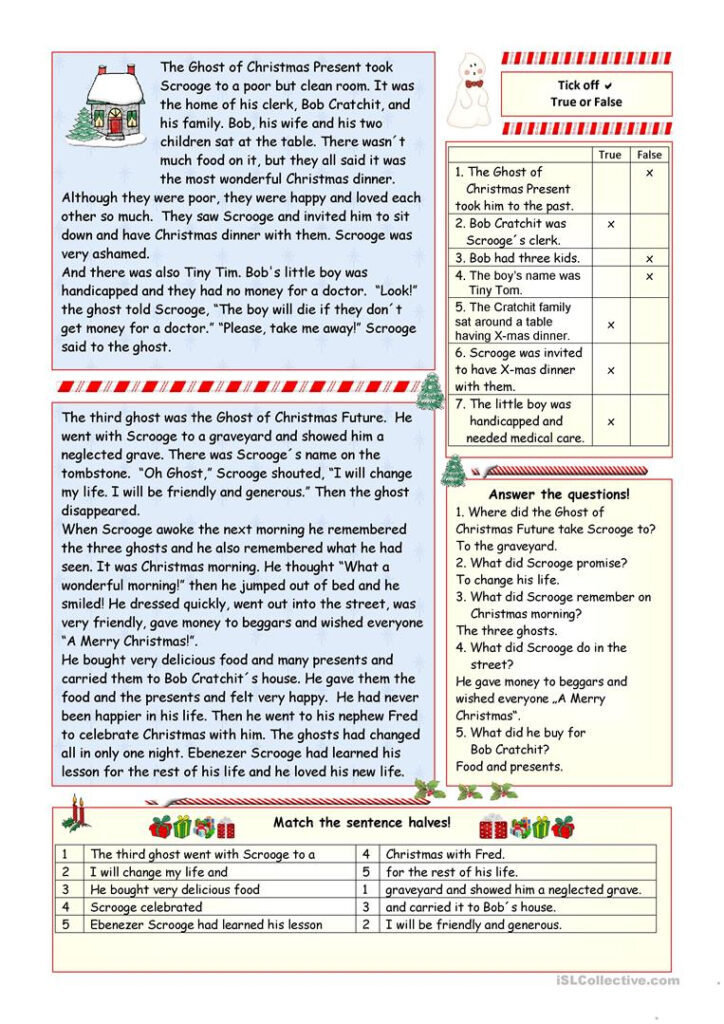 """A Christmas Carol""""   Simplified Version (Key Included"""