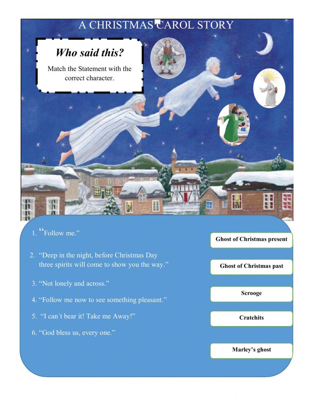 A Christmas Carol Story Worksheet