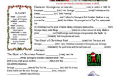 A Christmas Carol Free Worksheets