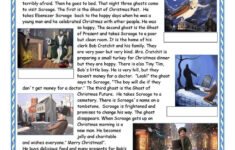 A Christmas Carol Worksheet – Free Esl Printable Worksheets
