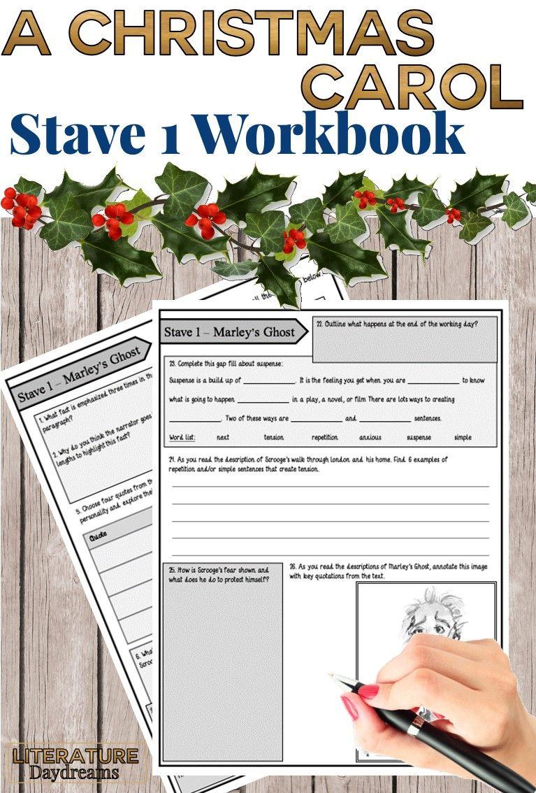 A Christmas Carol Worksheets (Chapter 1) | English Teaching