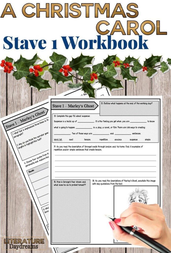 A Christmas Carol Worksheets (Chapter 1)   English Teaching