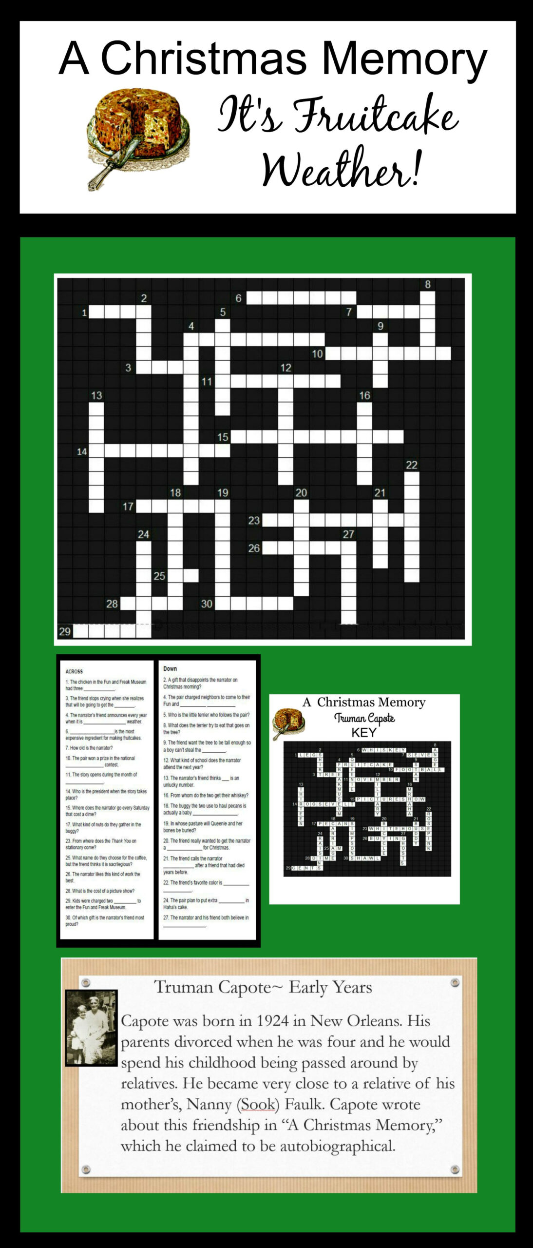 A Christmas Memorytruman Capote Crossword With Key