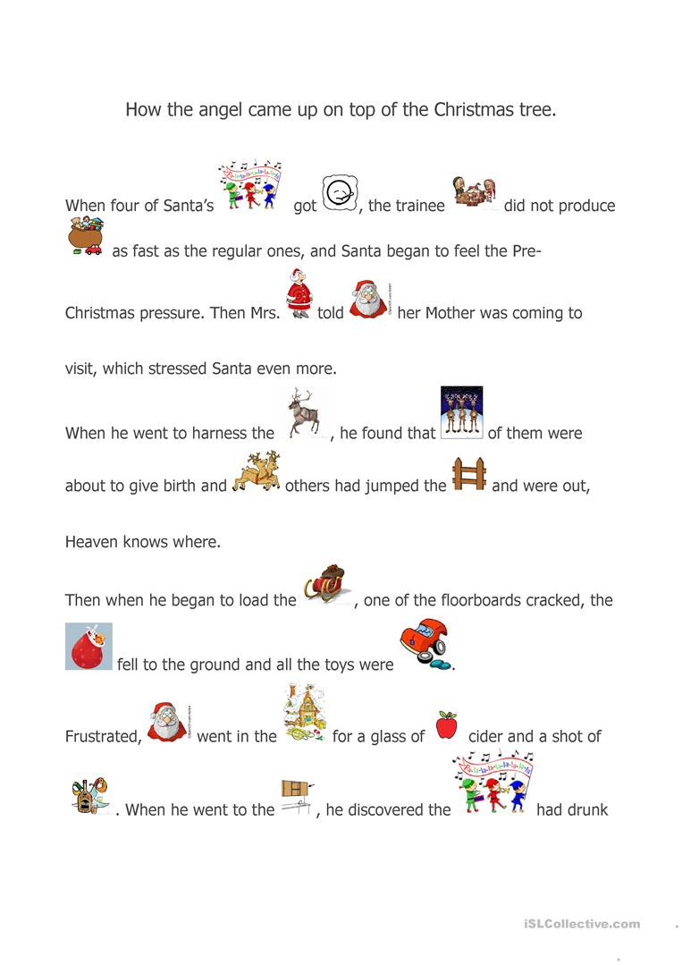A Christmas Story - English Esl Worksheets For Distance
